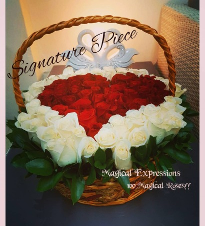 100 Roses Signature Basket