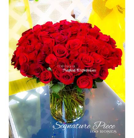 Magical Expressions Signature Piece 100 Roses